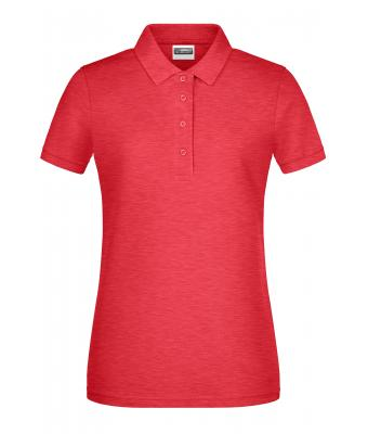 Damen Ladies' Basic Polo Carmine-red-melange 8478