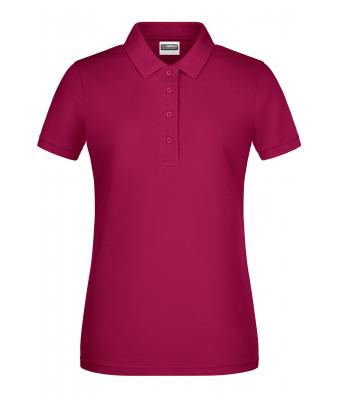 Damen Ladies' Basic Polo Wine 8478