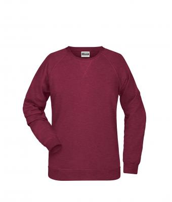 Ladies Ladies' Sweat Burgundy-melange 8652
