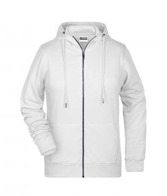 Damen Ladies' Zip Hoody White 8656