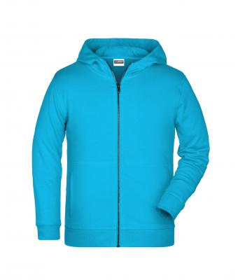 Kids Children's Zip Hoody Turquoise 8658