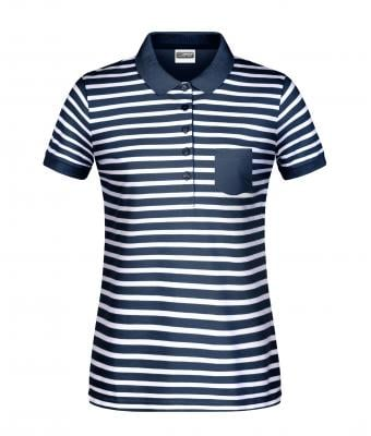 Ladies Ladies' Polo Striped Navy/white 8663