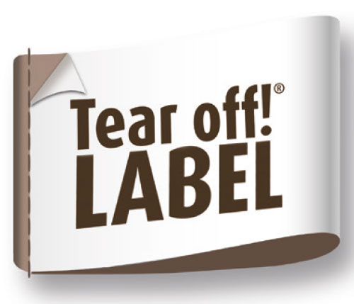 Tear off!® Label