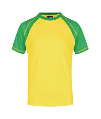 Men Men's Raglan-T Yellow/frog 7188
