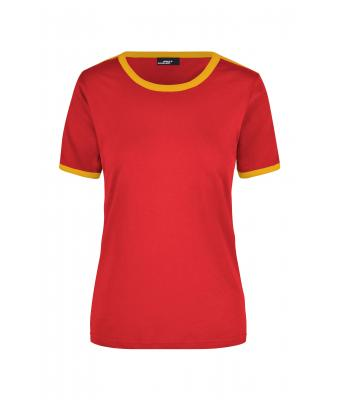 Ladies Ladies' Flag-T Red/gold-yellow 7196