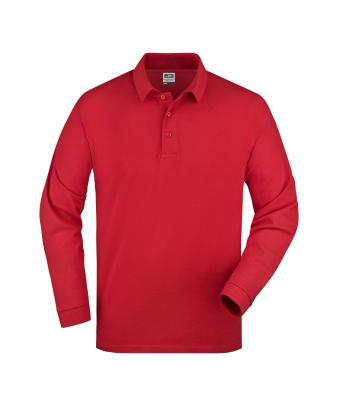Unisex Polo-Piqué Long-Sleeved Red 7200