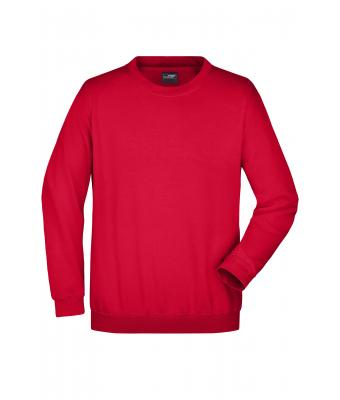 Unisexe Sweat-shirt col rond Rouge 7209