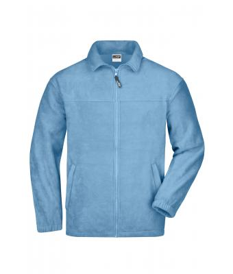 Men Full-Zip Fleece Light-blue 7214