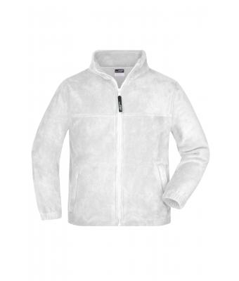 Kids Full-Zip Fleece Junior White 7215