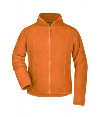 Ladies Girly Microfleece Jacket Orange 7221