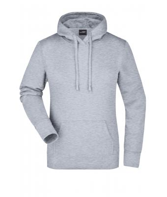 Damen Ladies' Hooded Sweat Grey-heather 7223