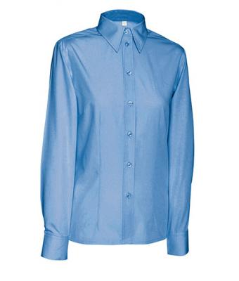 Damen Ladies' Blouse Long Blue 7237