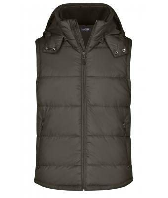 Men Men's Padded Vest Mud 7263