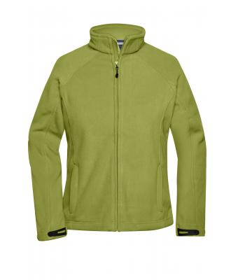 Ladies Ladies'  Bonded Fleece Jacket Green/navy 7266