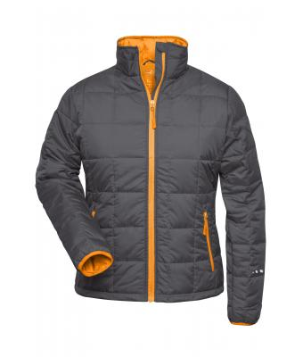 Damen Ladies' Padded Light Weight Jacket Carbon/orange 7911