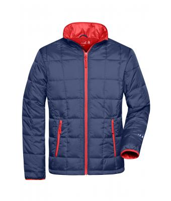 Herren Men's Padded Light Weight Jacket Navy/red 7912