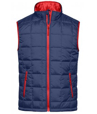 Men Men's Padded Light Weight Vest Navy/red 7914