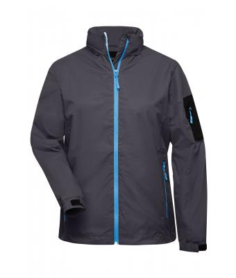 Ladies Ladies' Windbreaker Carbon/aqua 7917