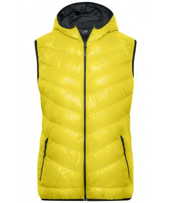 Ladies Ladies' Down Vest Yellow/carbon 8104