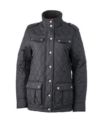 Ladies Ladies' Diamond Quilted Jacket Black 8136
