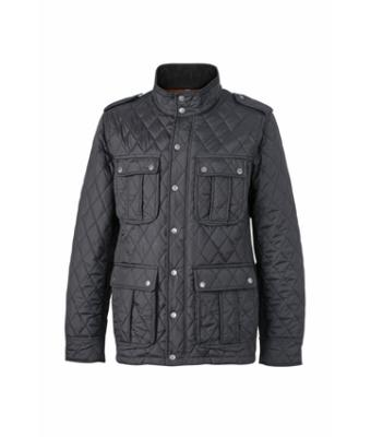 Men Men's Diamond Quilted Jacket Black 8137