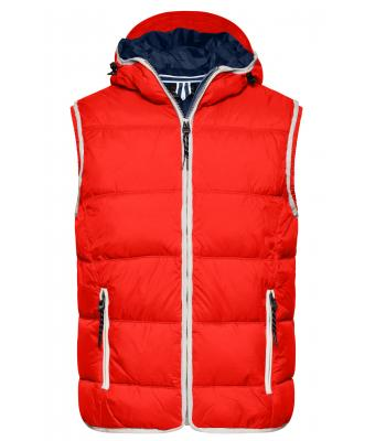 Men Men's Maritime Vest Red/white 8186
