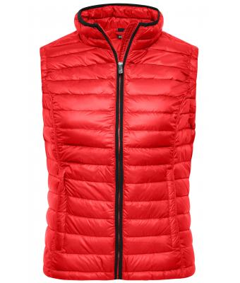 Ladies Ladies' Quilted Down Vest Red/black 8213