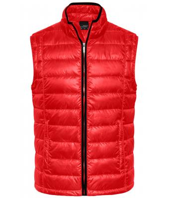 Men Men's Quilted Down Vest Red/black 8214
