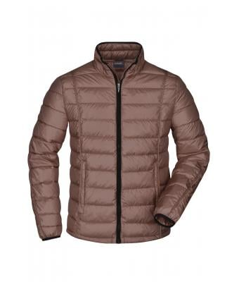 Herren Men's Quilted Down Jacket Coffee/black 8216
