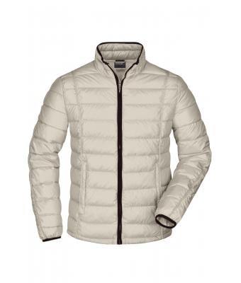 Herren Men's Quilted Down Jacket Off whiteblack Daiber