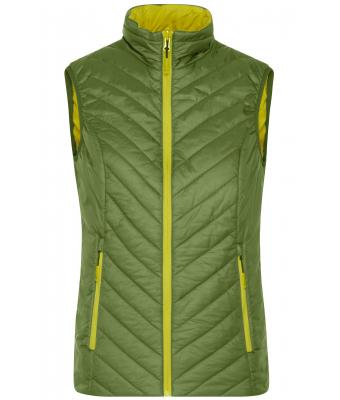 Ladies Ladies' Lightweight Vest Jungle-green/acid-yellow 8269