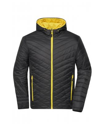 Men Men's Lightweight Jacket Black/yellow 8272
