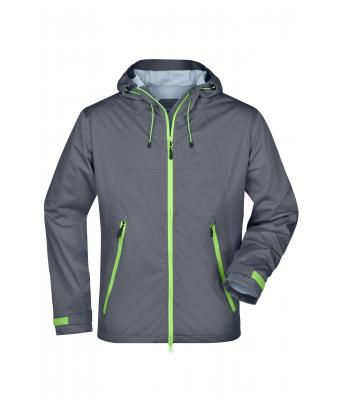 Men Men's Outdoor Jacket Iron-grey/green 8281