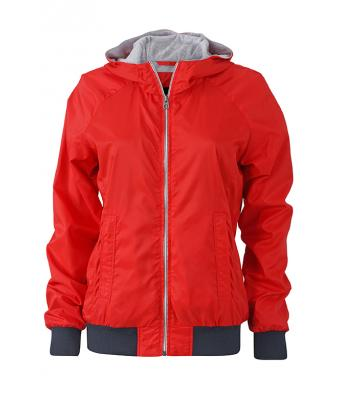 Damen Ladies' Sports Jacket Light-red/navy 8331