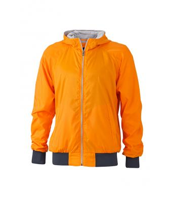 Herren Men's Sports Jacket Orange/navy 8332