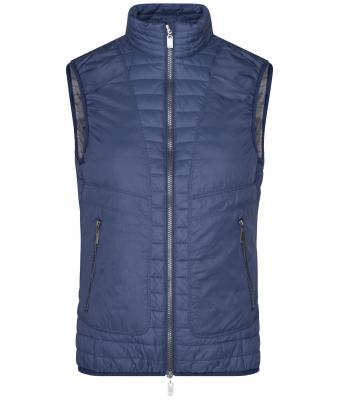 Ladies Ladies' Lightweight Vest Navy/silver 8333