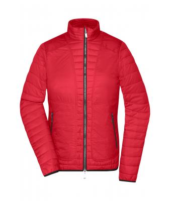 Damen Ladies' Lightweight Jacket Indian-red/silver 8336
