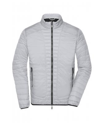 Men Men's Lightweight Jacket Silver/black 8337