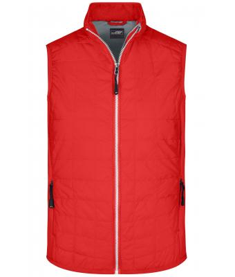 Men Men's Hybrid Vest Light-red/silver 8344