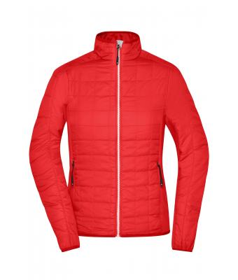 Damen Ladies' Hybrid Jacket Light-red/silver 8345