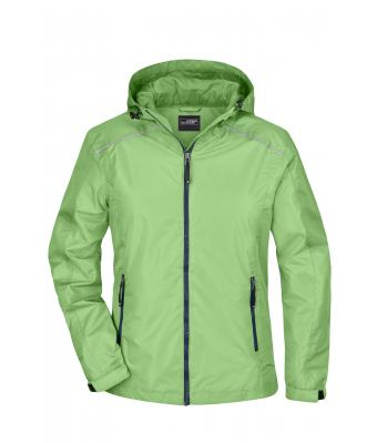 Damen Ladies' Rain Jacket Spring-green/navy 8371