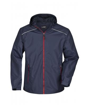 Herren Men's Rain Jacket Navy/red 8372
