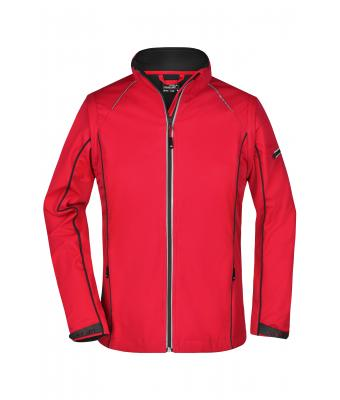 Damen Ladies' Zip-Off Softshell Jacket Red/black 8405