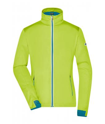Damen Ladies' Sports Softshell Jacket Bright-yellow/bright-blue 8407