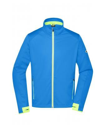 d524135e443c Herren Men s Sports Softshell Jacket Bright-blue bright-yellow-Daiber