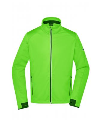 Herren Men's Sports Softshell Jacket Bright-green/black 8408