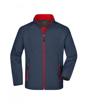 Herren Men's Promo Softshell Jacket Iron-grey/red 8412