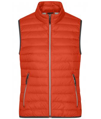 Damen Ladies' Down Vest Burnt-orange/silver 8494