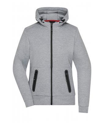 05268987096 Ladies Ladies  Hooded Jacket Light-melange-Daiber