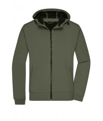 Men Men's Hooded Softshell Jacket Olive/camouflage 8618